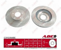 Комплект передних тормозных дисков ABE C3Y028ABE (2 шт.)