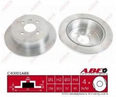 Комплект задних тормозных дисков ABE C40001ABE (2 шт.)