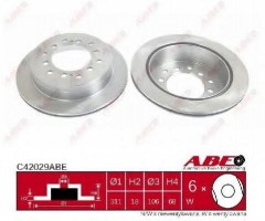 Комплект задних тормозных дисков ABE C42029ABE (2 шт.)