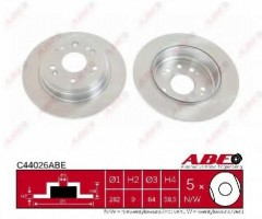 Комплект задних тормозных дисков ABE C44026ABE (2 шт.)