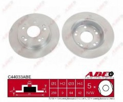 Комплект задних тормозных дисков ABE C44033ABE (2 шт.)