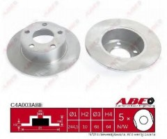 Комплект задних тормозных дисков ABE C4A003ABE (2 шт.)