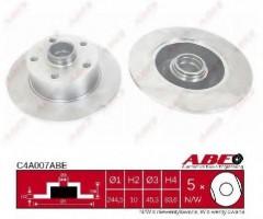 Комплект задних тормозных дисков ABE C4A007ABE (2 шт.)