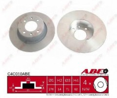 Комплект задних тормозных дисков ABE C4C010ABE (2 шт.)