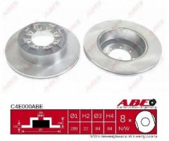 Комплект задних тормозных дисков ABE C4E000ABE (2 шт.)