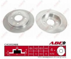 Комплект задних тормозных дисков ABE C4G002ABE (2 шт.)