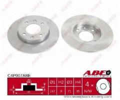 Комплект тормозных дисков ABE C4P007ABE (2 шт.)