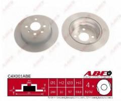 Комплект задних тормозных дисков ABE C4X001ABE (2 шт.)
