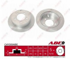 Комплект задних тормозных дисков ABE C4Y009ABE (2 шт.)