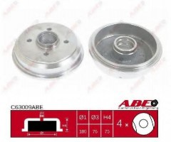 Тормозной барабан задний ABE C63009ABE