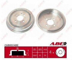 Тормозной барабан задний ABE C6B002ABE