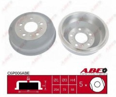 Тормозной барабан задний ABE C6P006ABE