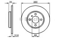 Комплект тормозных дисков BOSCH 0 986 478 029 (2 шт.)