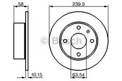 Комплект тормозных дисков BOSCH 0 986 478 072 (2 шт.)