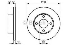 Комплект тормозных дисков BOSCH 0 986 478 130 (2 шт.)