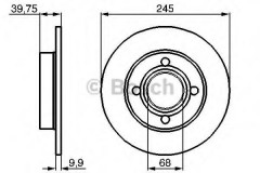 Комплект тормозных дисков BOSCH 0 986 478 216 (2 шт.)