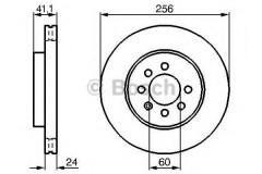 Комплект тормозных дисков BOSCH 0 986 478 286 (2 шт.)