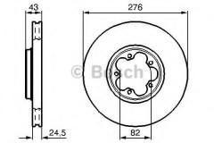 Комплект тормозных дисков BOSCH 0 986 478 299 (2 шт.)
