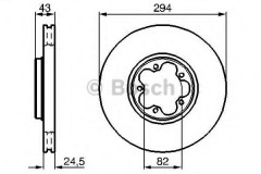 Комплект тормозных дисков BOSCH 0 986 478 303 (2 шт.)