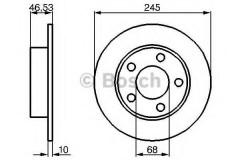 Комплект тормозных дисков BOSCH 0 986 478 315 (2 шт.)