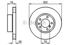 Комплект тормозных дисков BOSCH 0 986 478 317 (2 шт.)