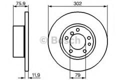 Комплект тормозных дисков BOSCH 0 986 478 319 (2 шт.)