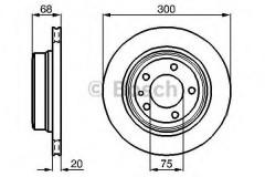 Комплект тормозных дисков BOSCH 0 986 478 320 (2 шт.)