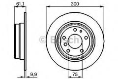 Комплект тормозных дисков BOSCH 0 986 478 321 (2 шт.)