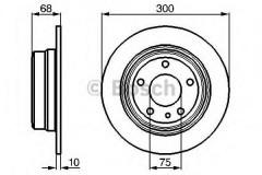 Комплект тормозных дисков BOSCH 0 986 478 323 (2 шт.)