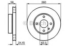 Комплект тормозных дисков BOSCH 0 986 478 346 (2 шт.)