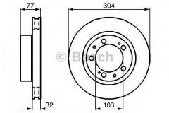 Комплект тормозных дисков BOSCH 0 986 478 409 (2 шт.)