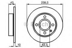 Комплект тормозных дисков BOSCH 0 986 478 501 (2 шт.)