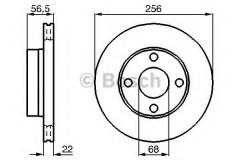 Комплект тормозных дисков BOSCH 0 986 478 550 (2 шт.)