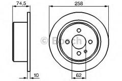 Комплект тормозных дисков BOSCH 0 986 478 563 (2 шт.)