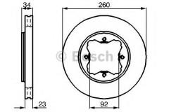 Комплект тормозных дисков BOSCH 0 986 478 568 (2 шт.)