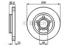Комплект тормозных дисков BOSCH 0 986 478 574 (2 шт.)