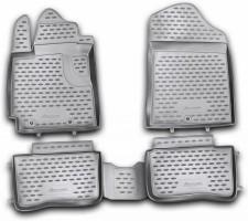 Коврики в салон для Kia Picanto '11-17 полиуретановые, черные (Novline / Element)