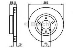 Комплект тормозных дисков BOSCH 0 986 478 594 (2 шт.)
