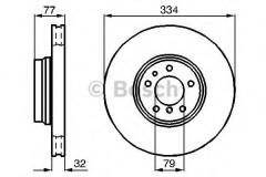 Комплект тормозных дисков BOSCH 0 986 478 623 (2 шт.)