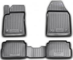 Коврики в салон для Opel Vectra C '02-08, седан/хетчбек, полиуретановые, черные (Novline / Element)