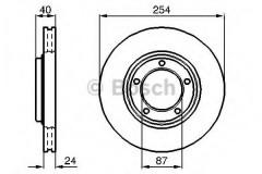 Комплект тормозных дисков BOSCH 0 986 478 663 (2 шт.)