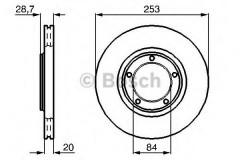 Комплект тормозных дисков BOSCH 0 986 478 664 (2 шт.)