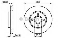 Комплект тормозных дисков BOSCH 0 986 478 671 (2 шт.)