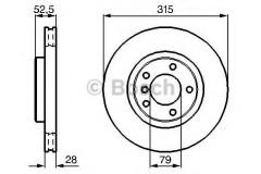 Комплект тормозных дисков BOSCH 0 986 478 748 (2 шт.)