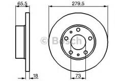 Комплект тормозных дисков BOSCH 0 986 478 843 (2 шт.)