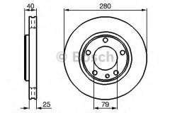 Комплект тормозных дисков BOSCH 0 986 478 890 (2 шт.)