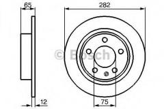 Комплект тормозных дисков BOSCH 0 986 478 891 (2 шт.)