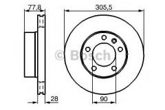 Комплект тормозных дисков BOSCH 0 986 479 001 (2 шт.)
