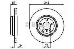 Комплект тормозных дисков BOSCH 0 986 479 005 (2 шт.)
