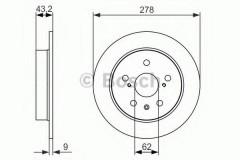 Комплект тормозных дисков BOSCH 0 986 479 047 (2 шт.)